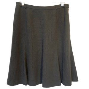 5/$35 WHBM A-Line Black & White Lined Skirt - 8